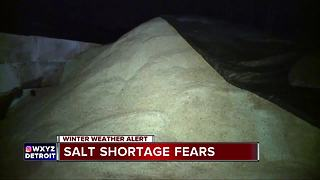 Metro Detroit contractors facing salt shortage as more snow is in the forecast - Video