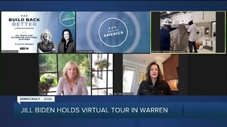 Jill BIden holds virtual tour in Warren