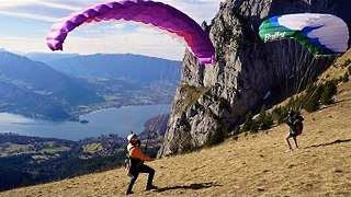 Speed Flying Over Lake Annecy - Video