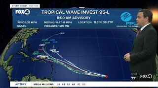 A tropical depression could form later today