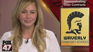 Waverly teachers to protest contract issues - Video