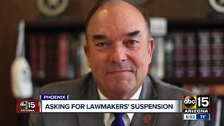 Some Arizona lawmakers are asking for sexual assault accusers to also be suspended - Video