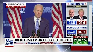 Joe Biden speaks about state of presidential race