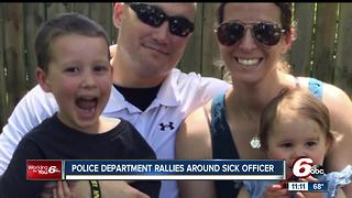 Police department rallies around sick officer - Video