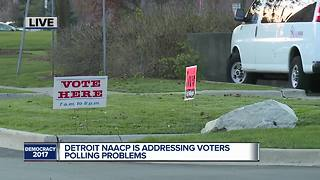 Detroit NAACP is addressing voters polling problems - Video
