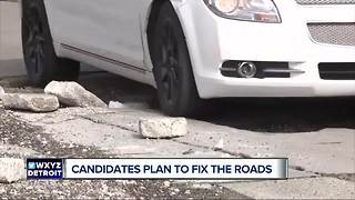 Democratic candidate for Governor Whitmer launches 'Fix the Damn Roads' campaign - Video