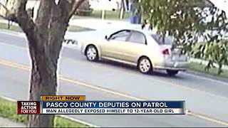 Pasco deputies search for man who exposed himself to 12-year-old girl - Video