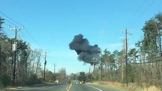 Military Jet Crashes Near Joint Base Andrews - Video