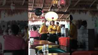 Server Shows Off Impressive Balancing Skills With Six Margaritas - Video