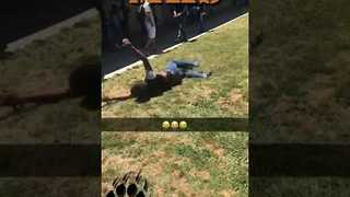 Guy Attempts Backflip, Fails Miserably - Video