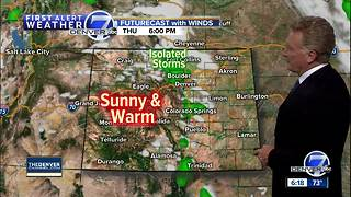 Warmer and drier weather for the Denver Metro Area - Video