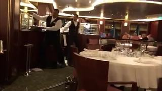 Violent storm throws P&O cruise about, smashing crockery - Video