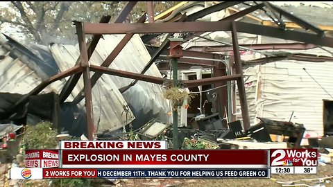 Explosion in Mayes County