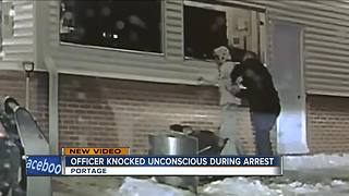 Wisconsin Police Officer Knocked Unconscious by Suspect - Video