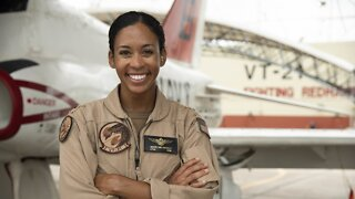 U.S. Navy's First Black Woman Tactical Jet Pilot Graduates