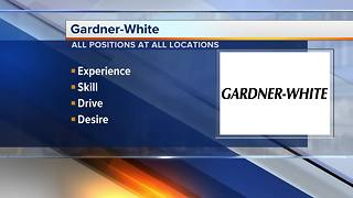 Gardner White hiring customer service associates and drivers - Video