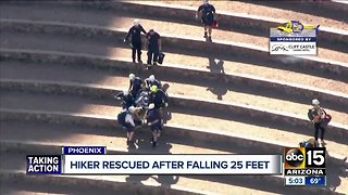 Hiker rescued after falling 25 feet while free-climbing Papago Peak