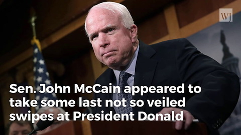 McCain Attacks Trump From Beyond the Grave: Left Note Before Death