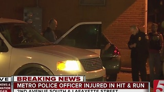 Police Search For Vehicle In Officer-Involved Hit-&-Run - Video
