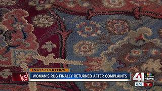 Woman's rug cleaning ordeal over after months - Video