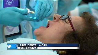 Free dental care offered at State Fair Park - Video