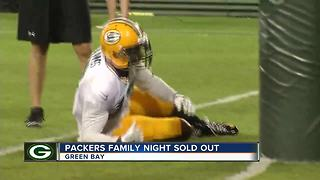 Packers Family Night fun - Video