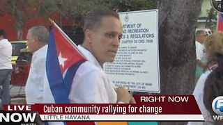 Cuban community rallying for change - Video