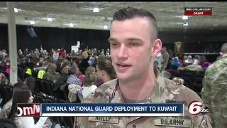 Indiana National Guard members deployed to Kuwait - Video