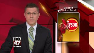 Tyson recalls 3,000 pounds of frozen chicken