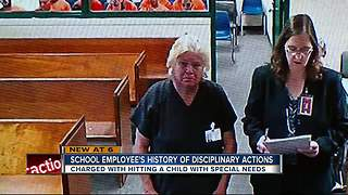 School employee hit disabled student, police say - Video