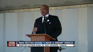 Man recites entire 'I Have A Dream' speech - Video