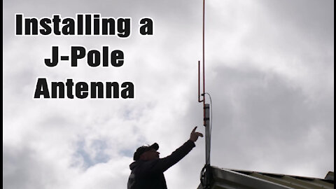 Installing a J-Pole Antenna on Roof
