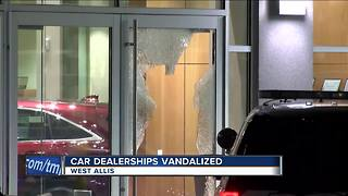 Car dealerships broken into overnight, three cars set on fire - Video