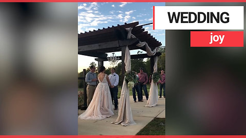 Bride ties the knot after another woman gave her the venue for free