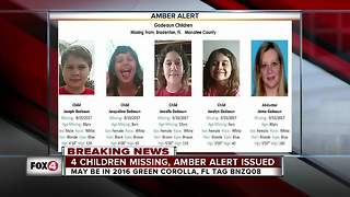 Four Manatee County children missing, AMBER Alert issued