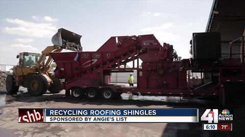 Angie's List: recycling roofing shingles