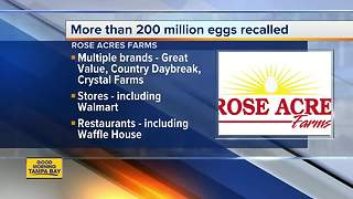 Eggs recalled due to possible Salmonella contamination