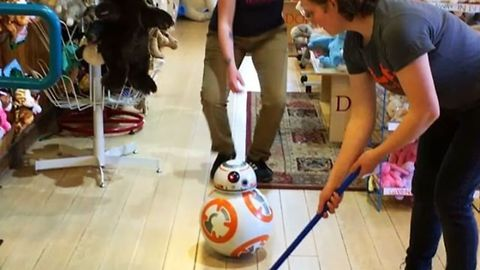 North Carolina Toy Store Enlists BB-8 for Some Olympic Curling Fun