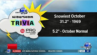 Weather Trivia: What was the snowiest October in Denver?