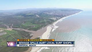 Imperial Beach closures hurt surf shops, businesses - Video