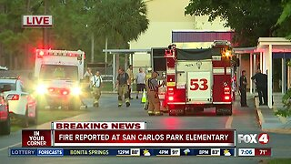 Fire breaks out on roof of San Carlos Park Elementary
