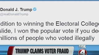 Trump claims voter fraud - Video