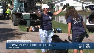 Martin County community cleaning up after flooding