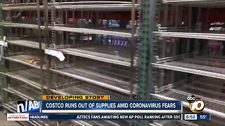 Some San Diego stores see empty shelves over coronavirus concerns