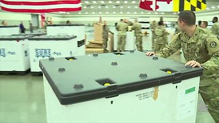 National Guard sets up field hospital at Baltimore Convention Center
