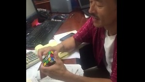 First ever Rubik's Cube champion proves he's still got it! - Video