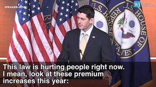 Paul Ryan - Obamacare Nothing But A String Of Broken Promises - Video