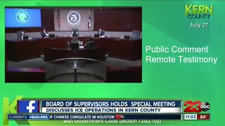 Board of Supervisors holds special meeting to discuss ice operations in Kern County