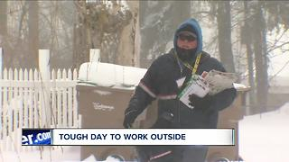 Tough day to work outside - Video