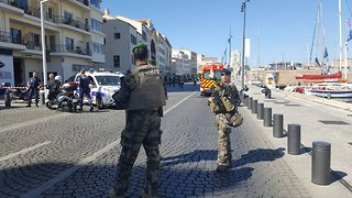 Heavy Security Presence After Vehicle Hits People at Bus Stops in Marseille - Video